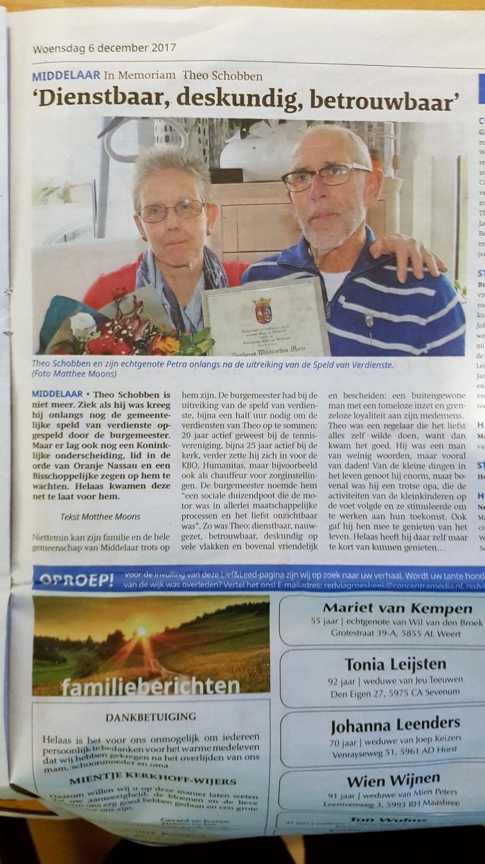 In Memoriam Theo Schobben