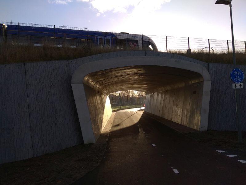 Fietstunnel Molenhoek - Mook open